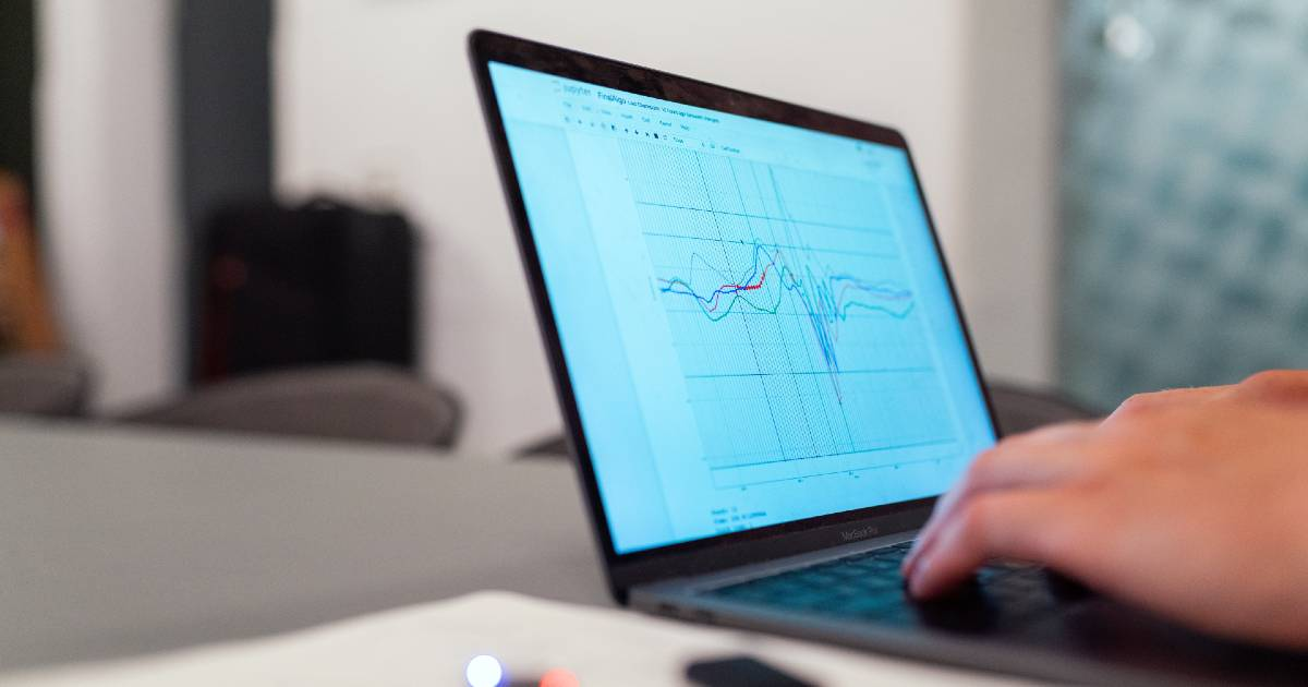 photo of a graph on a computer